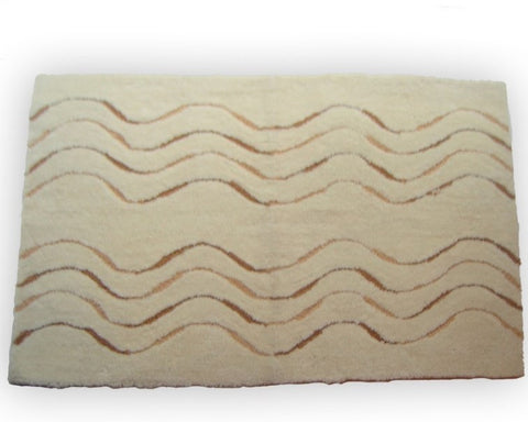 Dante Waves Plush Bath Rug