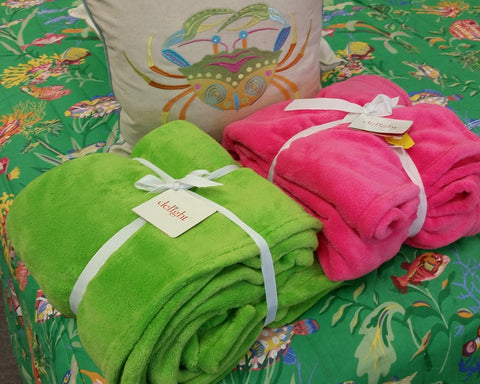 Cozy Bright Fleece Throw