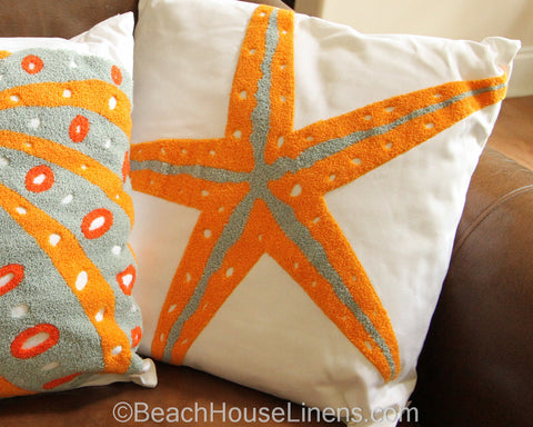 Fiesta Key Starfish Pillow