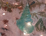 Glass Shell Glitter Ornament