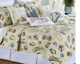 "18"" Pintuck Bedskirt with Histoire Quilt from C&F Enterprises"