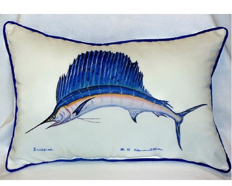 Sailfish Art Pillow