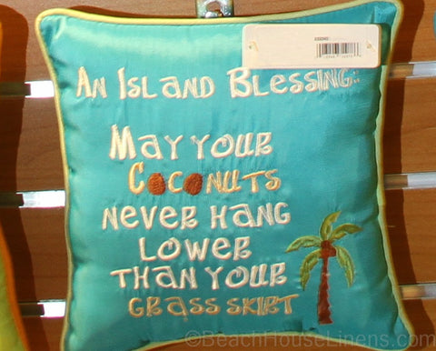 "Island Blessing 10"" Pillow"
