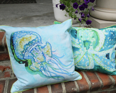 Jellyfish Art Pillow