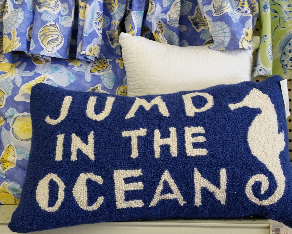 Jump in the Ocean Hook Pillow