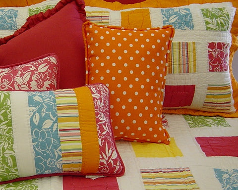 Fun Dot Orange Boudoir Pillow