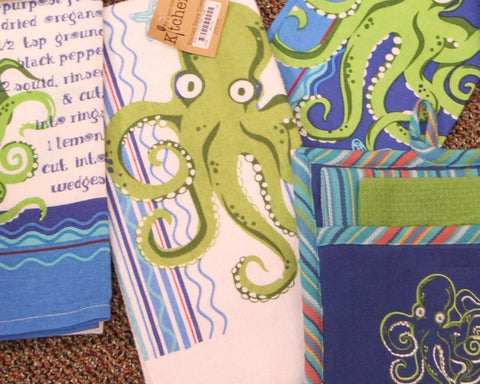 Octopus Terry Kitchen Towel