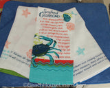 Sealife Recipe Flour Sack Towel