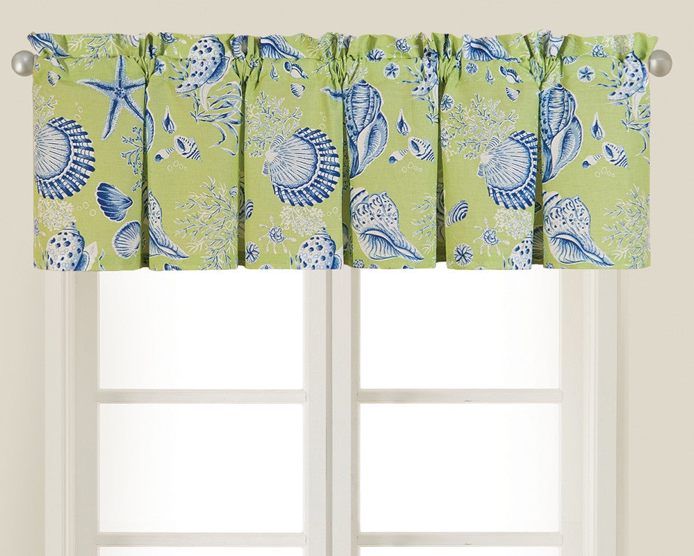Green Shells Valance