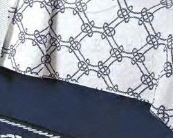 NAVY BLUE BEDSKIRT