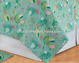 "18"" Pintuck Bedskirt with Laguna Breeze Quilt from C&F Enterprises"