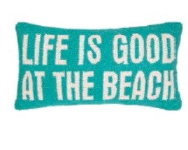 Life is Good at the Beach Hook Pillow