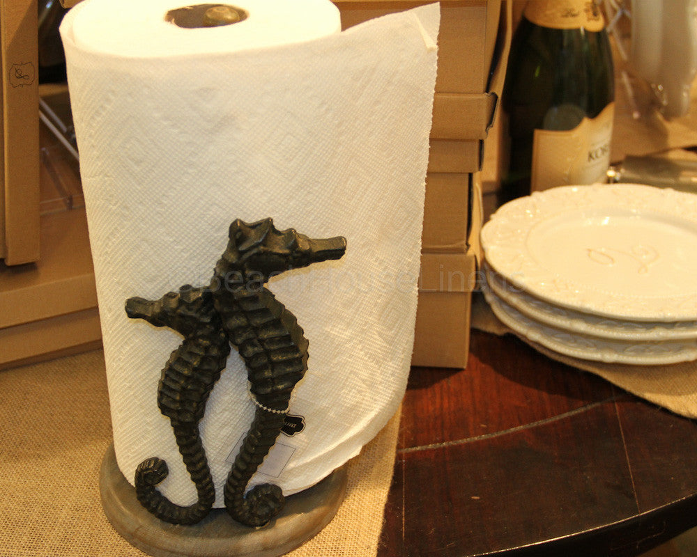 Seahorse Paper Towel Holder – Beach House Linens