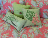 Cabana Button Solid Linen Pillow