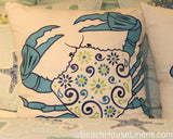 Meridian Waters and Imperial Coast embroidered pillows