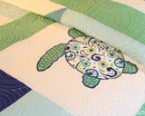 Meridian Waters Pieced and Embroidered Quilt