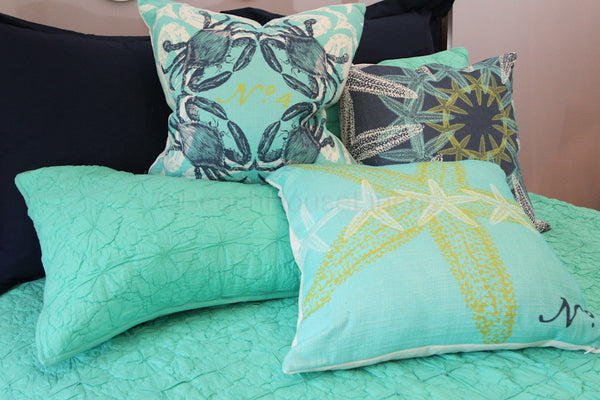 Starfish Gather On Our Feather Amp Down Pillow Linen Soft