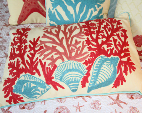 Tyden Shells & Coral Pillow
