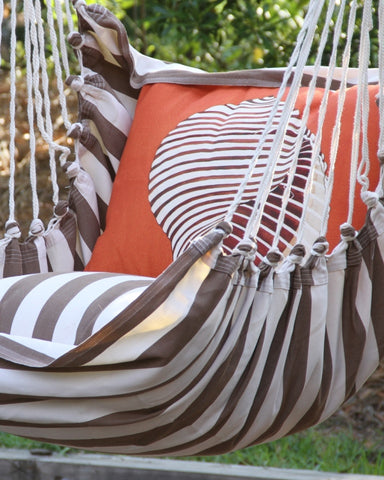 Orange Stripe Nautilus Hammock Swing Set