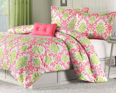 Millie Damask Comforter Set with Pillow