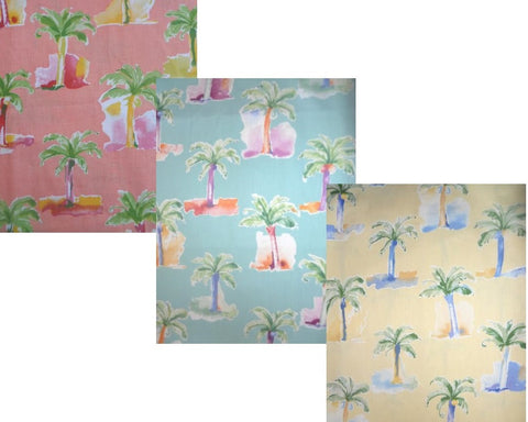 Modern Palm Shower Curtain