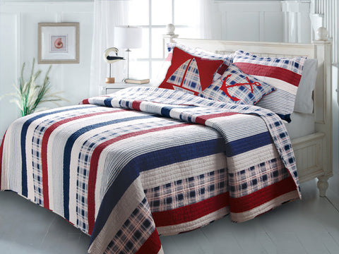 Nautical Stripes Quilt Set