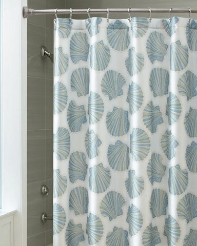 Mosaic Shells Shower Curtain By Croscill