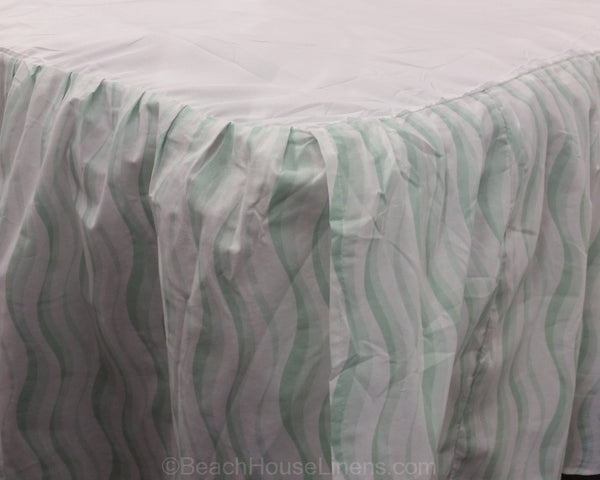 seaglass waves bedskirt  u2013 beach house linens