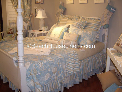 Natural Shells Quilt collection from C&F, quilt & sets – Beach ... : natural shells quilt - Adamdwight.com