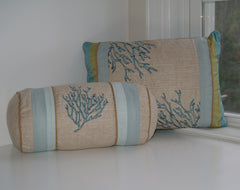 Natural Shell Coral Neckroll Pillow