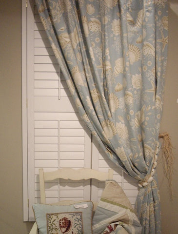 Natural Shell Window: Drapery Panel