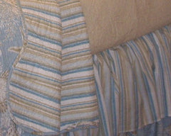 Natural Shell Stripe Bedskirt