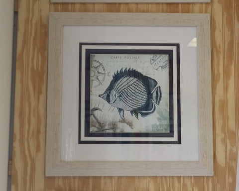 Seaside Navy Framed Art