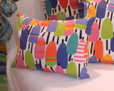 Kate Nelligan's Buoys Canvas Pillow