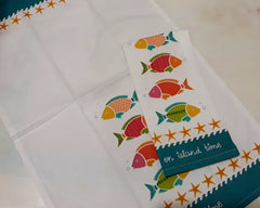 On Island Time Fishes Tea Towel