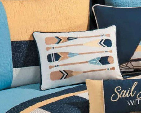Oars Embroidered Pillow