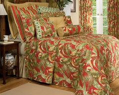 Captiva Red Palms Bedspread