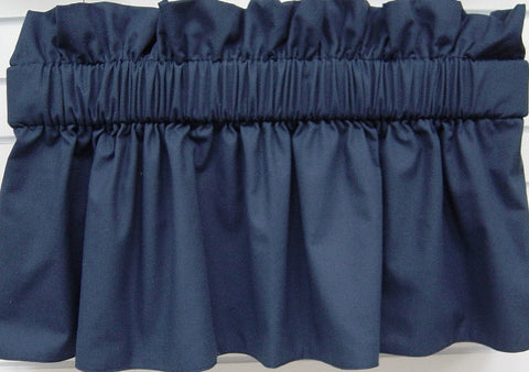 Pebbletex Navy Valance