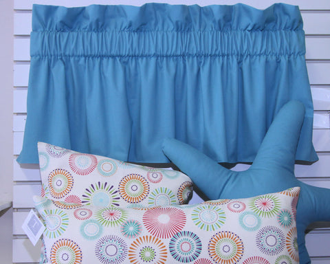 Pebbletex Ocean Blue Valance