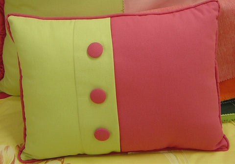 Pebbletex Pieced Button Boudoir Pillow