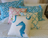 Canvas Coral Lattice Pillow