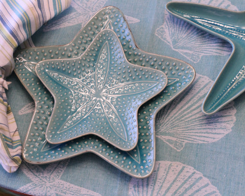 Starfish Azure Plates and accessories