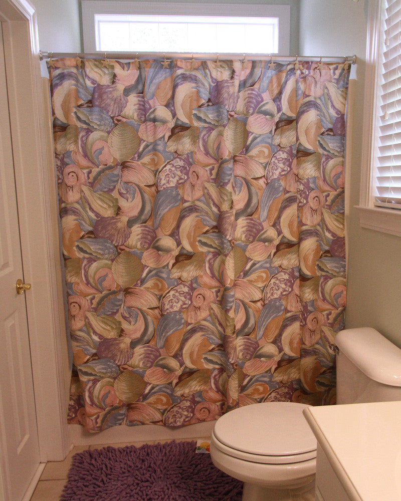 Purple Shell Shower Curtain
