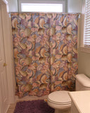 Blue, Yellow & Green Shell Shower Curtain