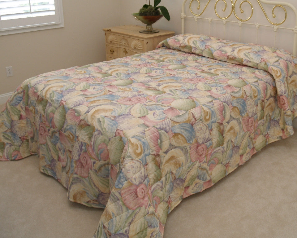 Purple Shell Bedspread
