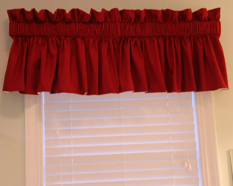 Pebbletex Red Valance