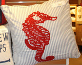 Chainstitch Seahorse Pillow