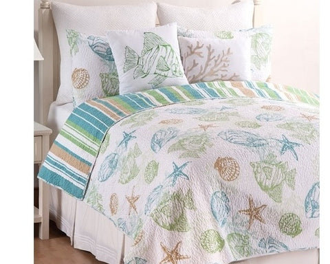 Reef Point Quilt Set, includes quilt and sham(s)