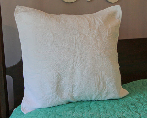 Shell Reversible White Euro Sham