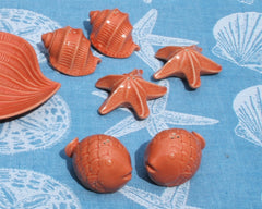 Coral Sea Life Salt & Pepper Shakers